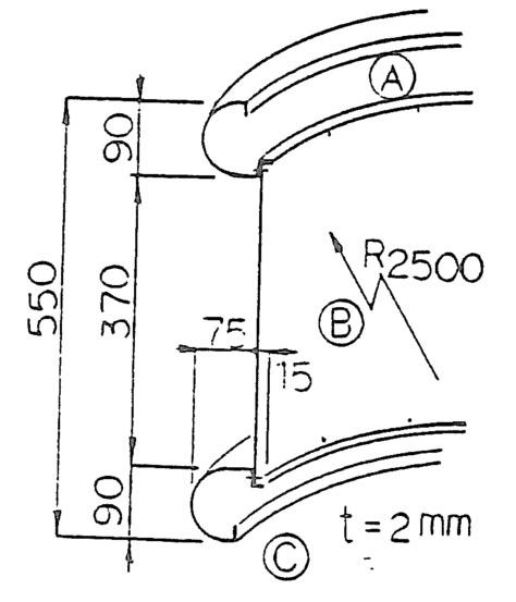 《部材》外壁パネル 《材質》純チタン 《断面サイズ》90×90