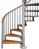 《部材》らせん階段手摺 《材質》6063S-T1 《断面サイズ》φ34